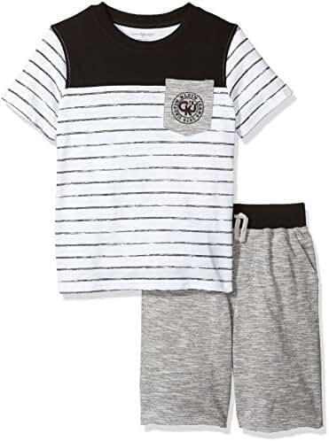 Calvin Klein Boys' 2 Pieces Tee Short Set-Marled Shorts