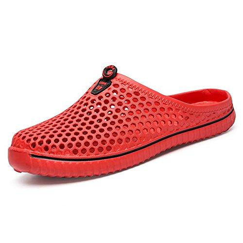scarpetta multicolor antiscivolo da uomo shoes resistenti con 2018 da Muli Scarpe Mens da e spiaggia ampia Rosso donna ZHqRaw