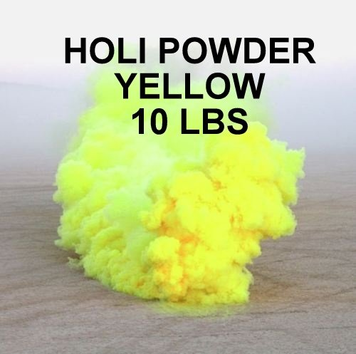 HOLI POWDER YELLOW - 10LBS, BHARAT ONLINE BRAND - 2 TO 3 DAYS DELIVERY