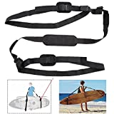 Ueasy SUP Paddleboard Carry Strap and Adjustable Surfboard Storage Sling with Comfortable Shoulder Padded (One Size Fits Most Paddleboard)