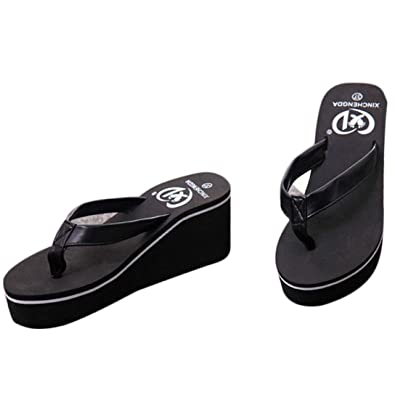 92ed8190318 Summer Sexy Flip Flops Women Comfort Sandals Aerosoles Bohemian Platform Arch  Support high Heel Dressy (