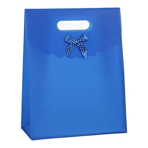 TEATSIGHT(ティートサイト)リボン付きギフトバック&ギフトカード【高さ31.5×横24×幅12】プリザーブドフラワーのラッピングにも最適1枚入りブルーギフトプレゼント