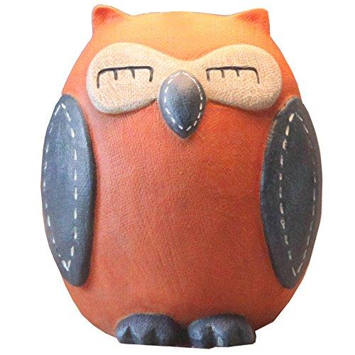 - Eastyle Owl Child Piggy Bank Savings/Coin/Money Box Creative Cute Wedding Birthday Present Orange