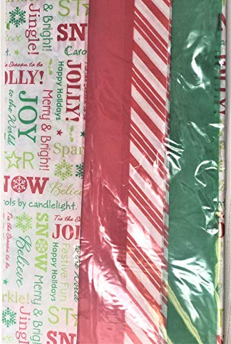 (amscan Christmas Printed Tissue Gift Wrappers, 30 Ct. | Party Accessory)