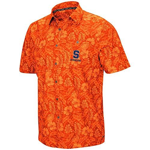 - Colosseum Mens Syracuse Orange Luau Camp Shirt - XL