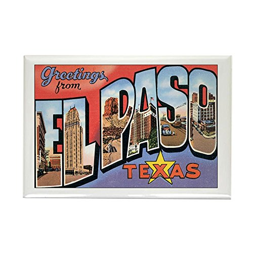 CafePress El Paso TX Postcard Rectangle Magnet, 2