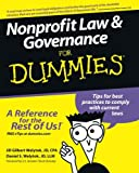 img - for Nonprofit Law and Governance For Dummies book / textbook / text book
