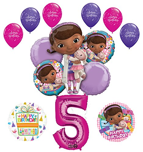 Doc McStuffins 5th Birthday Party Supplies and Balloon Bouquet Decorations]()