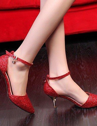 Chaussures Décontracté Or 5 Rouge Argent Eu38 Uk5 Golden similicuir amp; Habillé rose Aiguille Ggx Femme Travail bureau talons Cn38 talons 5 us7 talon dv8xYnq