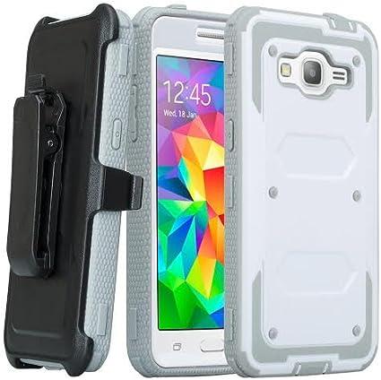 Samsung Galaxy Grand Prime Coque, Galaxy Go Prime Heavy Duty Clip ceinture pour Galaxy Grand Prime, couverture intégrale avec film protecteur d'écran ...