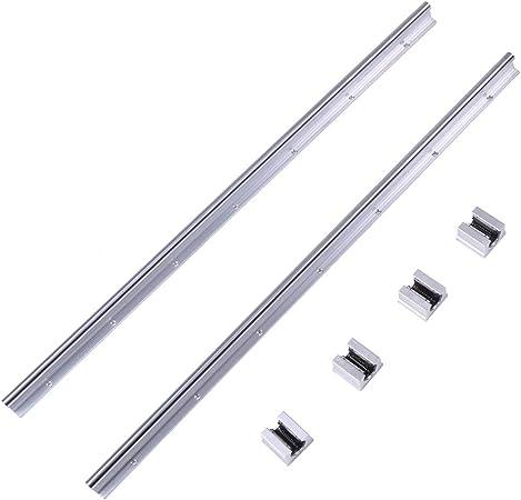 2x SBR12 700mm Linearführung Linearwelle Gleitschiene Welle mit 4x SBR12UU Block
