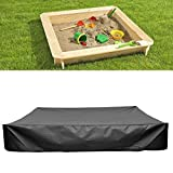 dDanke Black Sandbox Covers with Drawstring As Sandpit Cover Pool Cover - 95% UV Protection Dustproof - Prevent Leaves & Animal Waste (47.24x47.24x7.87 inch)