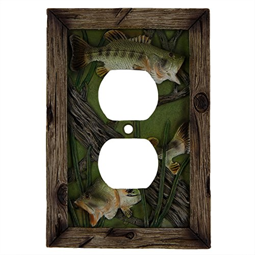 River's Edge Products Bass Duplex Receptacle Electrical Cover Plates
