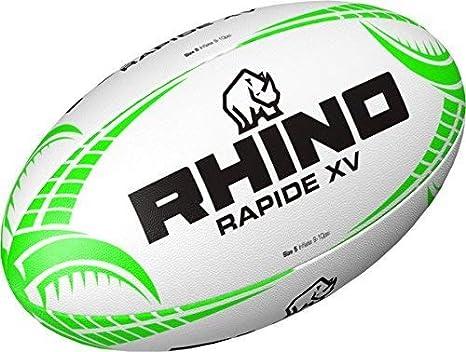 OSG Rhino Rapide XV - Pelota de Rugby (Talla 3 a 5), Color Blanco ...