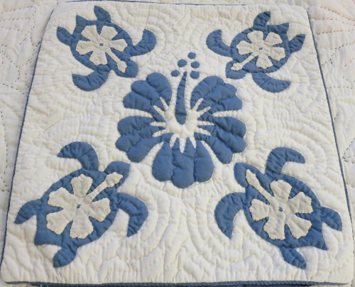 2 Hawaiian quilt throw pillow cover 18x18 100% hand quilted/100% hand appliqued (Pillowcase Hand Quilted Quilt)