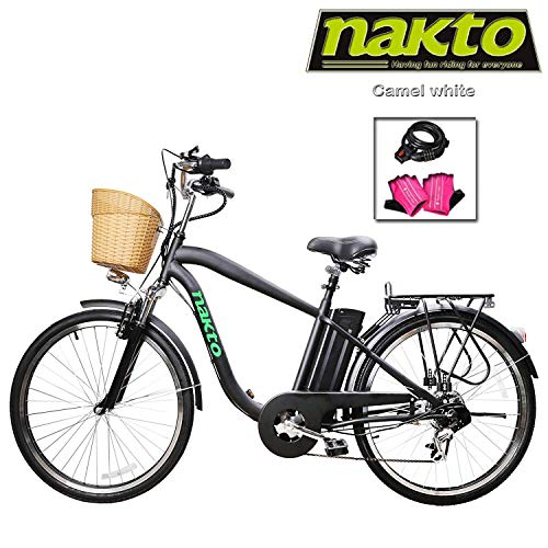 NAKTO Adult Electric Bicycles 26 Electric Bikes for 36V 10Ah 12Ah Ebikes