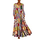 Software : Aniywn Oversized Dress Women's Sleeveless Casual Print Floral Loose Party Long Dress Plus Size (XXXXXL, Multicolor 2)