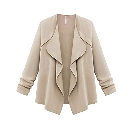 TAORE Long sleeve Solid Color Open Front Loose Trench Coat Waterfall Hooded  Cardigan Sweater at Amazon Women s Clothing store  6d2681246