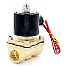 """Woljay Solenoid Valve 1/2 """" DC 12V Water Air Gas NC ( Normally Closed ) Replacement Brass Valve"""