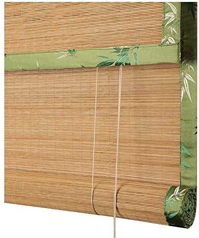 LIANGJUN Bamboo Curtain Roller Blind Roman Window Shades Retro Weaving Roll Type Sunscreen Dust-Proof Living Room Japanese-Style,Customizable Color : B
