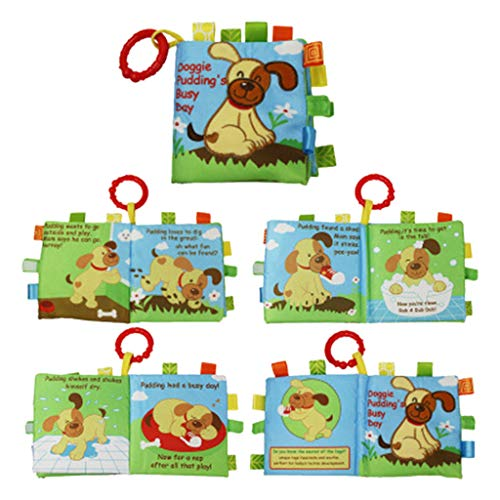 Firespit Infant Baby Cute Cartoon Animal Puzzle Soft Cloth Book Baby Toy Cloth Development BB Sound Books Preschool Toy Fairy Tale Story Book Education Early Learning Interactive Toys Gifts