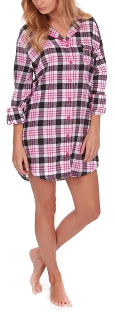 Forever Dreaming Ladies Brushed Flannel Checked Nightshirt