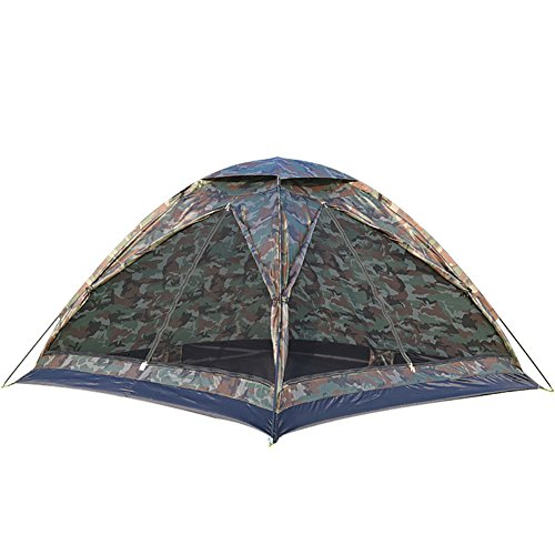 池紫のつかの間TY&WJ 家族のテント,二重層 ドームテント ポータブル折りたたみ テント アウトドア スポーツの 登山 ハイキング ティーピー 3-4 人