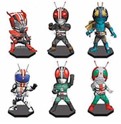 Rider World Collectible figures Rider No. 3 appeaROT in all six set