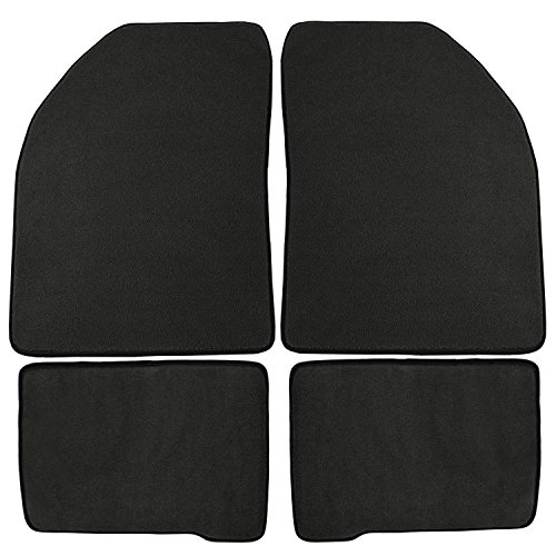 - Coverking Front and Rear Floor Mats for Select Oldsmobile Delta 88 Models - 40 Oz Carpet (Charcoal)
