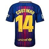 #6: UnMemy New Barcelona Home coutinho #14 Season 17/18 Soccer Jersey Men's Color Blue Size M