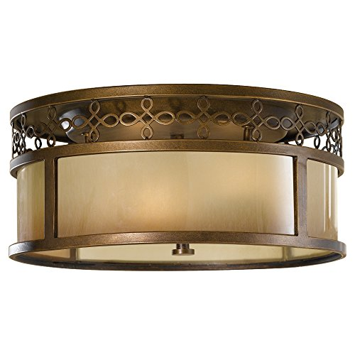 Murray Feiss FM337ASTB Justine, 3 Light Indoor Flush Mount, 180 Watts,  Astral Bronze   Flush Mount Ceiling Light Fixtures   Amazon.com