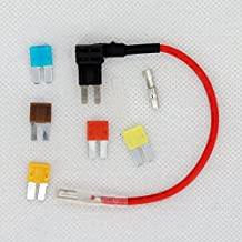 12/24V ATO ATC Micro 2 Blade Fuse Holder Tap Dual Add a Circuit Vehicle w/ 5A 7.5A 10A 15A 20A Fuse