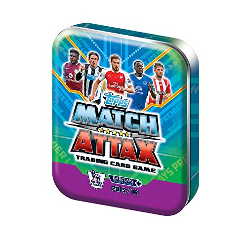 Topps Match Attax 2015 2016 Collector Tin (contains 50 random cards + 1 limited edition card (UK Version) (Limited Bronze Card Edition)