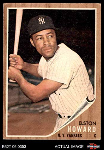 1962 Topps # 400 Elston Howard New York Yankees (Baseball Card) Dean's Cards 4 - VG/EX Yankees ()