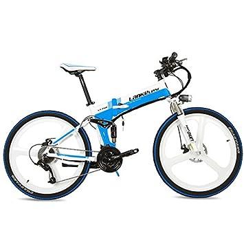 "LANKELEISI La Bicicleta de montaña eléctrica Plegable XT750 240W 26"", Rueda integrada, adopta"