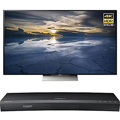 Sony 65-Inch Class 4K HDR Ultra HD TV (XBR-65X930D) with Samsung 3D Wi-Fi 4K Ultra HD Blu-ray Disc Player