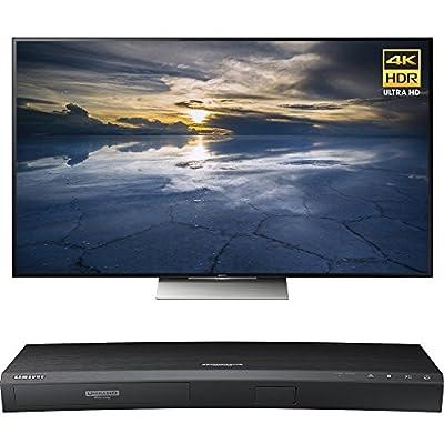 Sony 65-Inch Class 4K HDR Ultra HD TV (XBR-65X930D) with Samsung 3D Wi-Fi 4K Ultra HD Blu-ray Disc Player