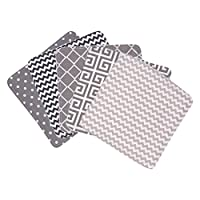 Trend Lab Ombre Gray Bouquet 5 Piece Wash Cloth Set