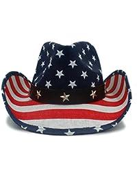Mens Cowboy Hats Summer Straw Sombrero Outdoor Sun Caps Unisex 2e2737ed4d7