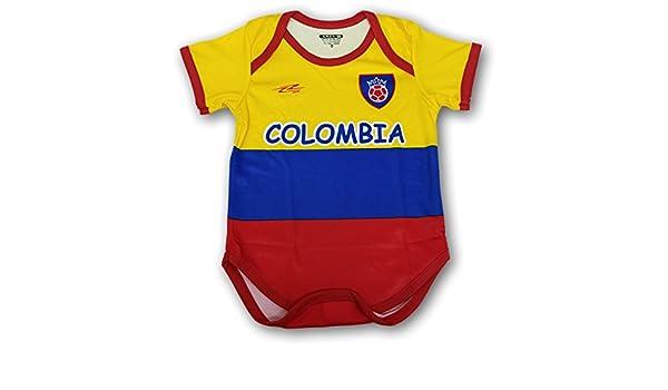 Arza Deportes Colombia fútbol bebé Traje Mono Mameluco: Amazon.es: Ropa y accesorios