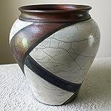 Wheel Thrown Raku Vase by Laura Kastin
