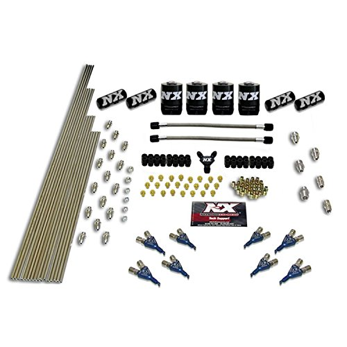 Nitrous Express 13386 8-Cylinder Piranha Nozzle Intake Plumbing Kit