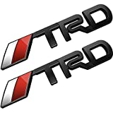 Deselen - LP-BS10A - Toyota TRD Car Emblem Chrome Stickers Decals Badge Labeling for Fj Cruiser, Supercharger, Tundra, Tacoma, 4runner,yaris,Camry, Pack of 2 (Black)