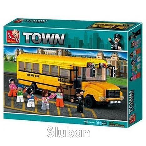 Amazon Sluban Big School Bus 382 Pieces In Original English