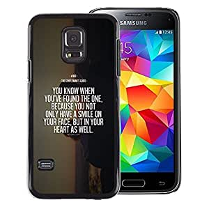 A-type Arte & diseño plástico duro Fundas Cover Cubre Hard Case Cover para Samsung Galaxy S5 Mini (Not S5), SM-G800 (Sea Sunset Motivational Quote Death)
