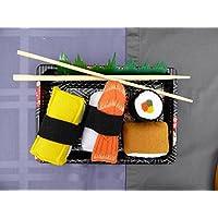 Felt Food Sushi Play Set 4 Piece Pretend Food Play Set, Unroll the Maki and re-roll, Take apart the Shrimp and Tamago, Inari