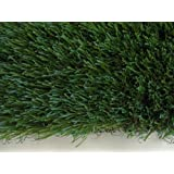 """15'x LENGTH - 54 Oz. Face Weight/32 Oz. Backing - PREMIUM SYNTHETIC TURF - Indoor / Outdoor Green Two-Toned Artificial Grass w/ a Natural Tan Thatch and Drainage Holes. (Blade Height: 1.5"""") Multiple Applications for Commercial & Residential Landscaping (Terraces, Dog Runs, Play Grounds and Sports Fields) Much Much More! Many Sizes & Shapes to Choose From."""