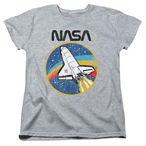 - Popfunk NASA Retro Space Shuttle Women's T Shirt & Stickers (X-Large) Heather Gray