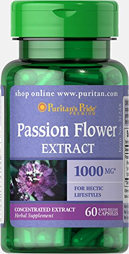 Puritans Pride Passion Flower 1000 Mg, 60 Count For Sale