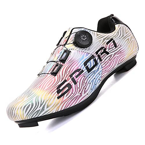 Heren Racefiets Schoenen MTB Fietsschoenen Spin Schoenen voor Dames Binnen Fietsschoenen Compatibel met SPD/SPD-SL Race…